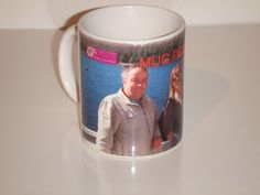 personalise a mug. add photos and text info