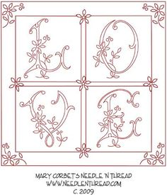 A More Complex Hand Embroidery Pattern: Psuedo-Original Love – Needle'nThread.com
