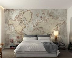 Cheap wall papers home decor, Buy Quality custom wallpaper directly from China wall decor wallpaper Suppliers: Beibehang Custom Wallpaper Retro Old Style World Map Background Wall Decorative Wallpaper papel de parede wall paper home decor Wallpaper Decor, Custom Wallpaper, Loft Bed Desk, Wallpaper Suppliers, China Wall, Map Background, Estilo Retro, Paper Houses, My New Room