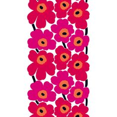 Marimekko Unikko HW cotton fabric (1,735 THB) ❤ liked on Polyvore featuring home, home improvement and fabric
