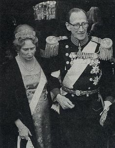 Prince Knud was left the fringe tiara by his mother, Queen Alexandrine, and his wife, Caroline-Mathilde is seen wearing it