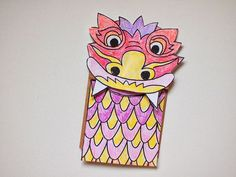 Chinese new Year Paper Bag Dragon Puppet