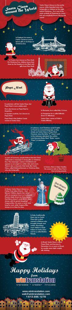 Santa Claus around the World #December #Christmas