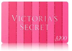 How to win victoria secret gift card
