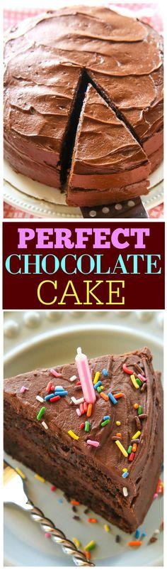 Perfecto pastel de chocolate - húmedo con el glaseado más sedosa nunca!  the-girl-who-ate-everything.com