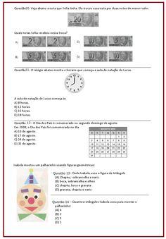 Avaliação de Matemática – 4º ano | Sala de Aula – Profª Rérida Professor, Homeschool, Education, Math, Nova, Simple Math, Math Assessment, Initials, Activities
