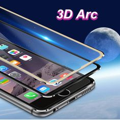Aluminum Alloy Tempered Glass 3D Arc Edge Glass for iPhone 7 7Plus Full Covered Tempered Film Glass Screen Protector for iPhone6