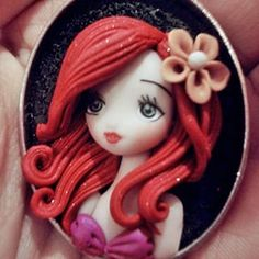 Uno dei bellissimi cammei diuser Grazieuser ❤ #danielapupa #fimo #necklace #handmade #cammeo #Ariel #lasirenetta #thelittlemermaid #Disney