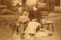Photograph of Beatrix Potter and her brother Walter B. Potter (Bertie) probably taken about 1892.
