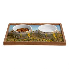 Lisa Argyropoulos Roadside Wild Ones Pet Bowl and Tray | DENY Designs Home Accessories