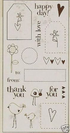 Heidi Grace Designs TAGS AND WORDS Clear Stamps