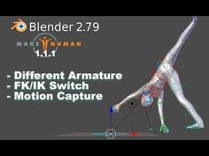 MakeHuman to Blender with IK Bones and Motion Capture (Tutorial) Blender 3d, 3d Animation, Computer Animation, Animation Reference, Video Game Development, Blender Tutorial, Motion Capture, Safety Valve, Modeling Tips