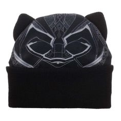 new products f96b1 1b8d8 Black Panther Big Face Beanie