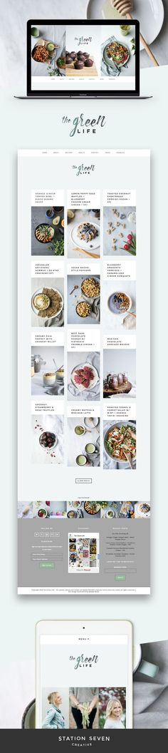 Clean and beautiful food blog by The Green Life running on Station Seven's Matchstick WordPress theme.