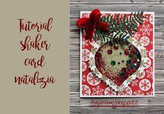 Tutorial shaker card  #tutorial #YouTube #Natale #christmas #Noel #shaker card #card #shake