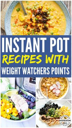 Dec 2019 - Here are some great weight watchers instant pot recipes. These tasty and healthy instant pot meal ideas are great and you will love these Poulet Weight Watchers, Plats Weight Watchers, Weight Watchers Chicken, Weight Watcher Dinners, Best Instant Pot Recipe, Instant Pot Dinner Recipes, Recipes Dinner, Dump Meals, Easy Meals