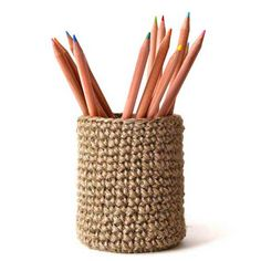 Covered Pot  Jute by crayonchick on Etsy, $40.00