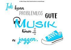 Silhouette plotter file free, Plotter Datei kostenlos, plotter freebie, Musik, music, Ich kann problemlos gute Musik hören ohne zu joggen