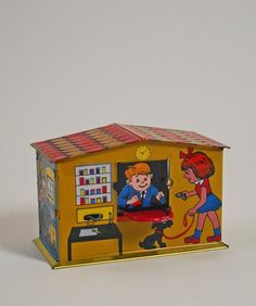 Retro Post Office MoneyBox New Parent Advice, Mom Advice, Christmas Toys, Christmas 2016, Retro Toys, Vintage Toys, Awesome Gadgets, Baby Health, Money Box
