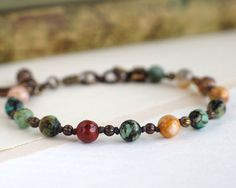 Etsy listing at https://www.etsy.com/listing/293454491/crazy-lace-agate-bracelet-african