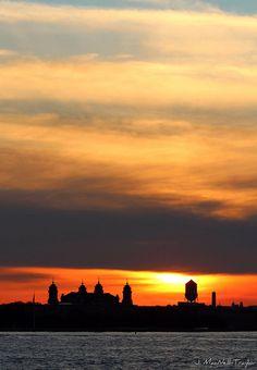 Ellis Island at Sunset