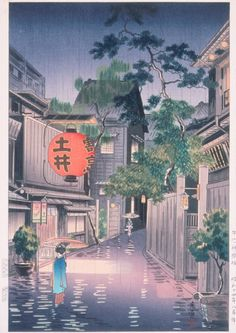 Kagurazaka, Ushigome, Tokyo Tsuchiya Kōitsu (Japan, 1870-1949) Japan, August 1939 Prints; woodcuts Color woodblock print Image: 15 7/16 x 10 7/8 in. (39.2 x 27.7 cm); Paper: 16 5/8 x 11 1/8 in. (42.3 x 28.2 cm) Gift of Mr. and Mrs. Felix Juda (M.73.37.486) Japanese Art