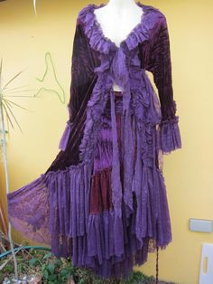 vintage inspired rich purple velvet jacketromantic ole by wildskin, $125.00
