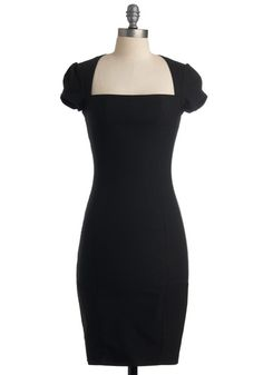 "Sleek It Out Dress in Black, #ModCloth I want this dress in size L... When I have $52 to throw around this is going to be my first purchase. It looked amazing on every lady in the pictures I've looked at in the review section. Perfect for my ""Breakfast At Tiffany's"" party theme."