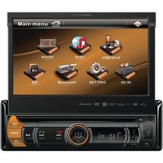 "PP PVI.170Bi 7"" Single-DIN In-Dash Motorized Flip-up LCD Touchscreen Detachable Face, Bluetooth® www.audiohouze.ecrater.com"