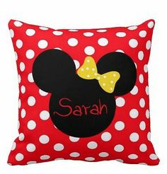 Catch some Zzzz's with this personalized Minnie Mouse pillow .... Price: $39.99 .... Where to Buy: AlwaysFits.com .... ♥ the #giftdetectives