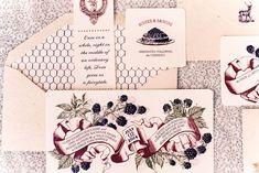 berry scroll invitation