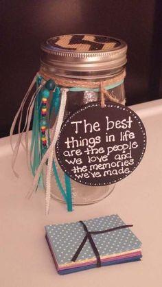Birthdays Memory Jar by designsbyamyrose on Etsy 18 Birthday Party Decorations, 90th Birthday Parties, Mom Birthday, 70th Birthday Ideas For Mom, Farewell Party Decorations, Birthday Gifts, 50th Birthday Quotes, Mason Jar Crafts, Mason Jar Diy