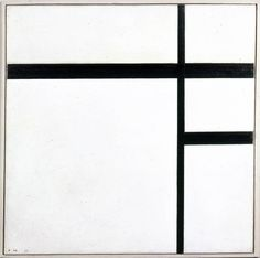 Piet Mondrian - black and white - Large Abstract Wall Art - Home Decor Trend