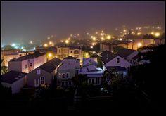 Beautiful SF Neighborhood at Night