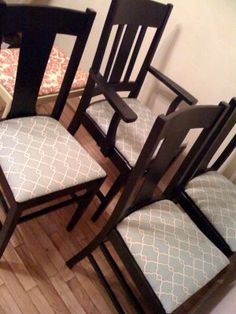 Recover A Chair. Recover Dining Room Chairs   Like This Fabric