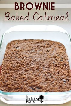 Baked Brownie Oatmeal Recipe