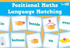 Positional Maths Language Matching Game :: Teacher Resources and Classroom Games :: Teach This