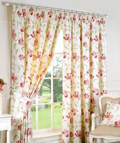Ascot Ready Made Lined Curtains in Pink from £17.00