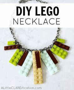DIY Lego Necklace - so easy to make and endless holiday gift possibilities! #mybrilliantidea #clevergirls #dremel