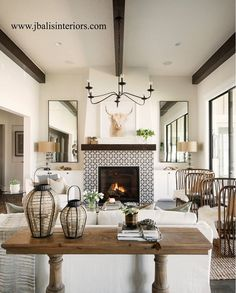 make ceiling wood beam stain in espresso and cover up the drywall beam. fireplace mantle wood use the same espresso color fireplace surround 11 Cozy Fireplace Tile Surround Ideas Country Fireplace, Farmhouse Fireplace, Home Fireplace, Fireplace Remodel, Fireplace Modern, Victorian Fireplace, Fireplace With Wood Mantle, Living Room Fireplace, Fireplace Makeovers