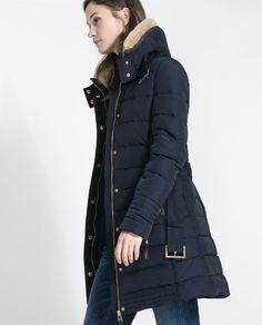 SEMI-LONG PUFFER ANORAK from Zara<< gah!!!!