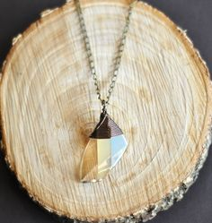 Champagne Swarovski Crystal Big Drop Necklace. $40.00, via Etsy.