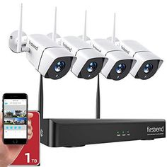 Wireless Security Camera System, Hd Security Camera, Video Security, Wireless Camera, Security Surveillance, Bullet Camera, Ip Camera, Night Vision, Amazon