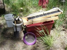 My home-built recirculating sluice set up in Arizona