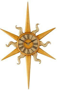 Image detail for -Sun wall clock - sun decorative wall clocks - gilded decorative clock ...