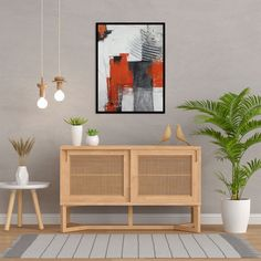 """Modern geometrical wall art, colorful framed contemporary wall or desk decor. 24 cm x 32 cm / 9.5"""" x 12.6"""". Minimalist, contemporary, abstract. It will be a wonderful decoration for your home or office and a great gift for your friends and family. Fiery red, orange, gray, yellow, black, white, charcoal, inks, pastels. High quality acrylic paints, charcoal, pastels, acrylic inks and different mediums on high quality Fabriano paper (350 gr). Hand Painted Walls, Original Paintings, Abstract Paintings, Canvas Home, Texture Painting, Abstract Landscape, White Charcoal, Black White, Modern Wall"""