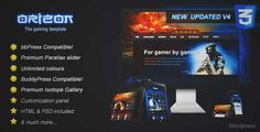 Download and review of Orizon - The Gaming Template WP version, one of the best Themeforest Technology themes Download & review at http://best-wordpress-theme.net/orizon-the-gaming-template-wp-version-download-review/