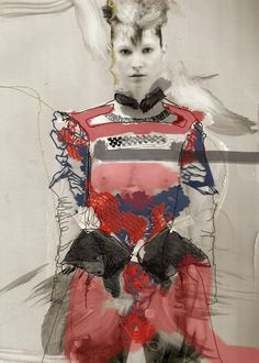 iwantcandyillustration:  By Eugenia Alejos Garrido. Submission for the Mary Katrantzou AW12 Illustration competition.