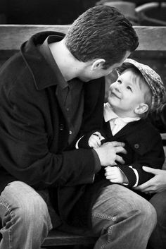 Daddy and son love ...such a sweet picture