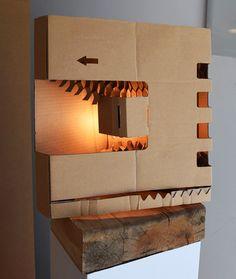 "By Benestart - mental health workshop: Folding cartoon Lamp / Llum ""Box"" (60x60x40cm) / Lámpara plegable Light Installation, Wall Lights, Space, Home Decor, Pallets, Colors, Floor Space, Appliques, Decoration Home"